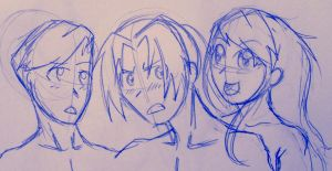 FMA: Ed, Winry, and Al by Meylaite