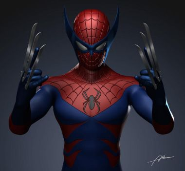 Spider-man Wolverine combined by Abremson