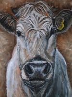 GCSE Art Cow painting by Its-real-to-us