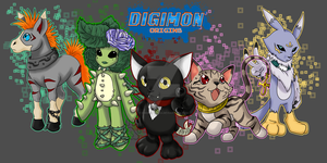 Digimon of Origin 1st 5 by EmeraldSora