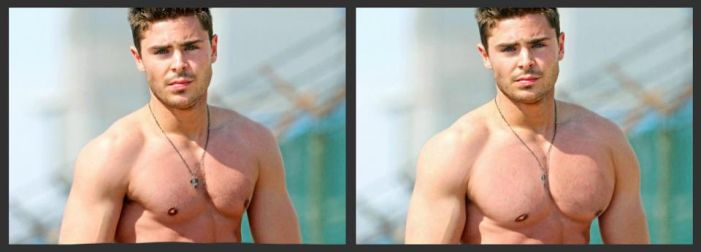 Zak Efron Muscle Morph (Before / After) by mason3544