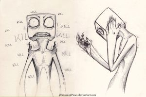 Enderman Sketches by aThousandPaws