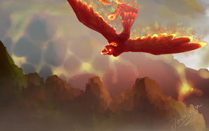 Birth Of A Red Phoenix by JavaLeen
