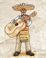 Mexican Musician by snak