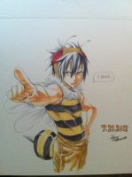 Gray Sama Honey Bee by MrsLawnjiDRace