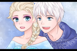 Jack and Elsa by frozenblume
