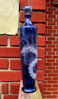Recycled Blue Dragon Bottle by MadEtcha