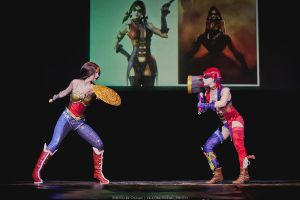 cosplay Wonder Woman vs Harley Quinn injustice by Nemu013