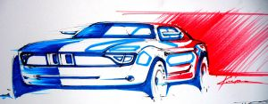 bmw retro sketch by Chrupson