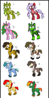 2 Point Adoptable Ponies by Chickfila-Chick