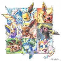 Eeveelutions by jmonkey2105