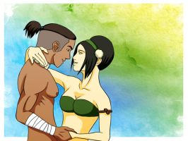 Toph and Sokka Valentines' by chrisdog203
