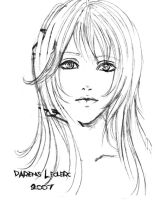 Girl face sketch by Magochocobo