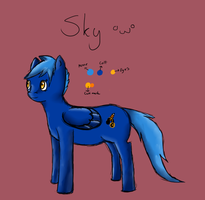 :PonySona: Skye by IronMeow
