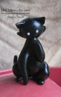 Cute Black Kitty by MiniMythicalMonsters