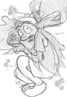 Helga's sooo busted - sketch by cowgirlem