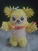 3D origami fashion bear :) by Michaelle111