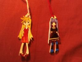 Panty and Stocking Shrinky-Dinks by sabrynaM