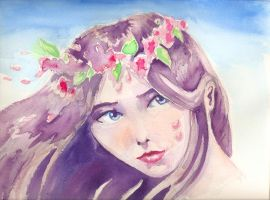 Flower girl by nienor