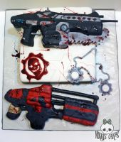 Gears of War Cake by Corpse-Queen