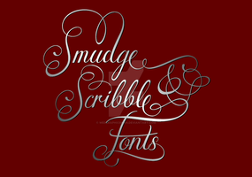 Smudge and Scribble Fonts by Weegraphicsman