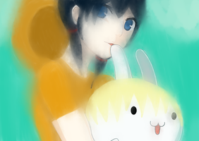 Ayumi and Yoshibunny Gift (BLURRED VERSION) by Seutani