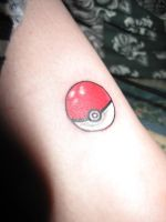 Pokeball Tatt by CandaceIsVampire
