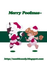 Christmas poofs by zambicandy