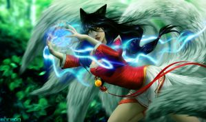 League of Legends - Ahri by akreon