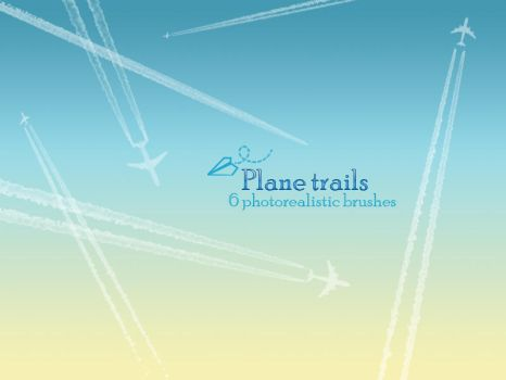 Plane trails brushes by Fufnahad