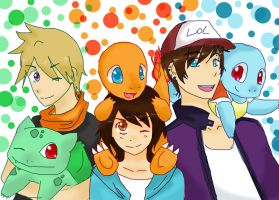 pkmn : chicos by DannaWoodPillow