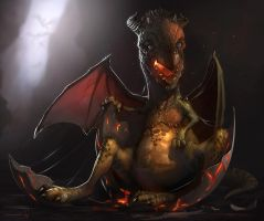 dragon newborn by GreyHues