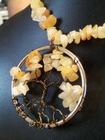 Golden Jade Circle Wire Tree with Bronze Bark by BacktoEarthCreations