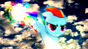 Sonic Rainboom (Wallpaper)(Edit) by Hardii