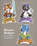 Convention Badges by artyewok