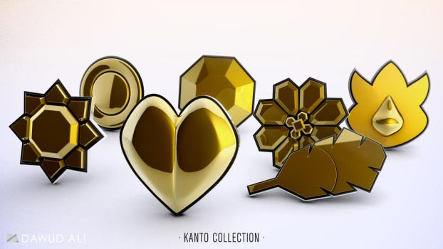 Pokemon Kanto Badges by 1pencilTHIEF