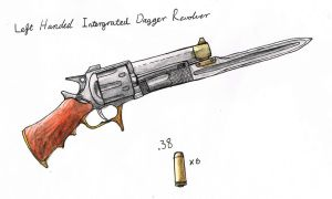 Left Handed Intergrated Dagger Revolver by plushman