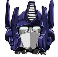 G1 Optimus Prime Head Coloured by studiogdp