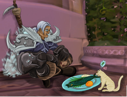 A Man and His Cat by vegasama