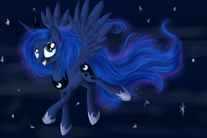 Princess Luna by SakuraWolfer