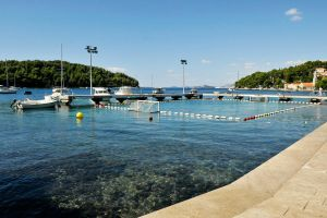 Water polo pool - Cavtat, Croatia by wildplaces