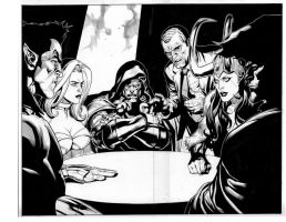 secret invasion 8 pgs 26-27 by MarkMorales