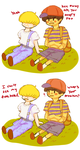 ness and porky by ongaku-wo-iku