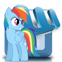 MS word icon - rainbow dash by spikeslashrarity
