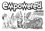 EMPOWERED 7's title-page spread, plus credits by AdamWarren