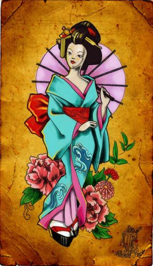 Japanese Tattoo, Geisha Tattoo, Japanese Geisha Tattoo, Tattoo Designs