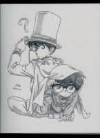 Kaito Kid and Conan by LileoDark