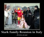 Stark Family Reunion in Italy by ValeviL-the-phoenix