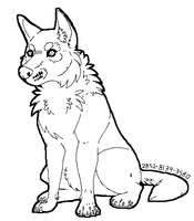 pay to use dog lineart by 2852-8139-3580