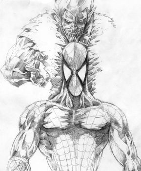 spiderman and goblin by gombez